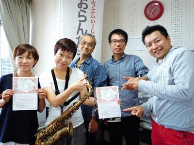 【9/22】サクソフォン奏者 名雪さんとベース奏者の佐藤さん♪:画像