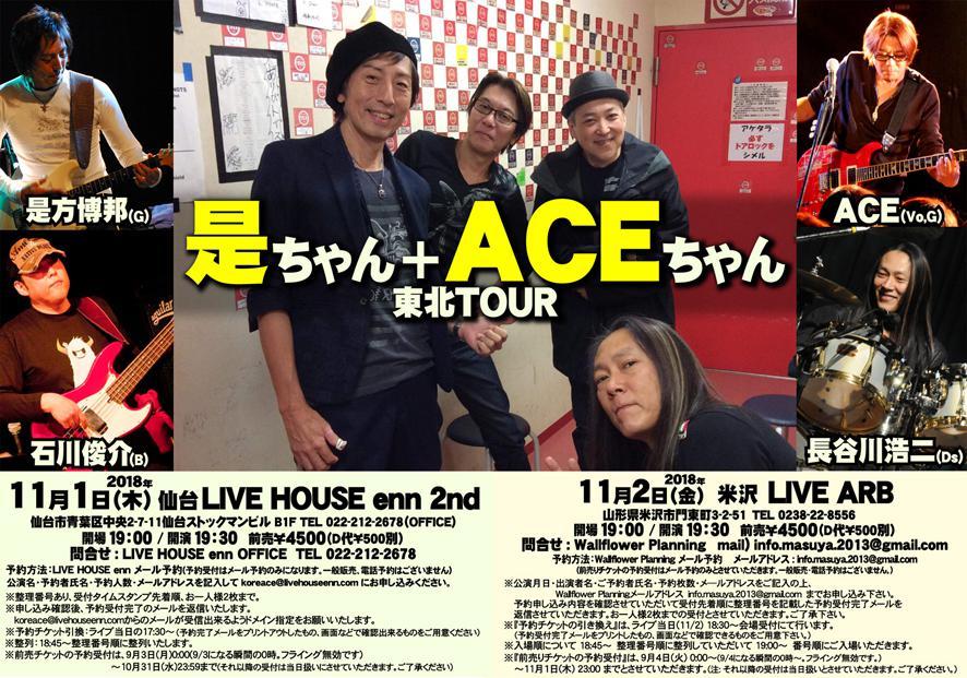 【応募終了】是ちゃん+ACEちゃん 米沢公演 ペアチケットを1組に!:画像