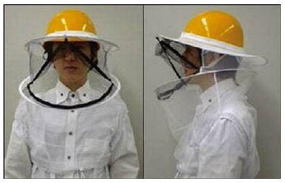 ハチ防蜂ネットファスナー付
