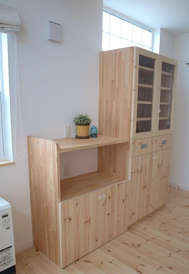 木製食器棚:画像