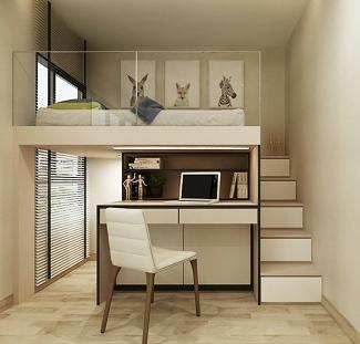 寝室のスキップフロアのアイディア:画像