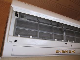 エアコンフィルターのお掃除:画像
