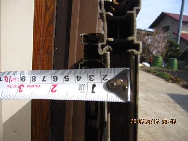 サッシの戸車交換 玄関編:画像