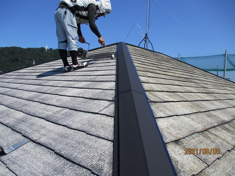 屋根プライマー塗装:画像