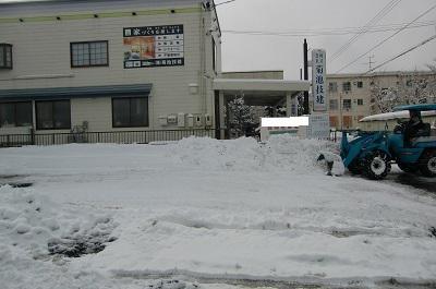 除雪車出動中!!:画像