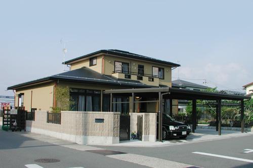 木組み表し天井居間をもつ和みの家 / 山形市T様邸:画像