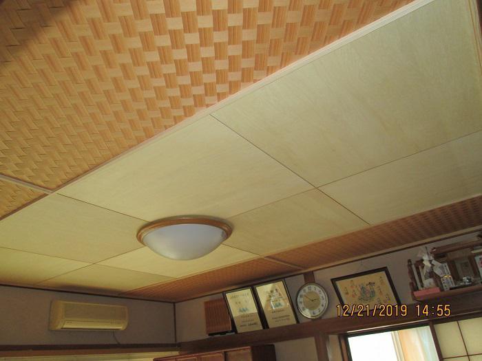 和室天井上げ替え工事:画像