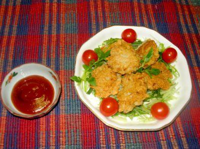 《米粉レシピ》レンコンと鶏ササミのこめっこチキンナゲット:画像