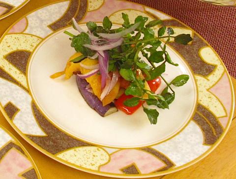 《米粉レシピ》真フグの洋風天ぷらクレソンサラダ添え:画像