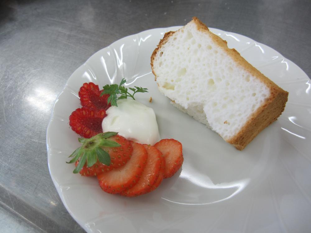 米粉のシフォンケーキ:画像