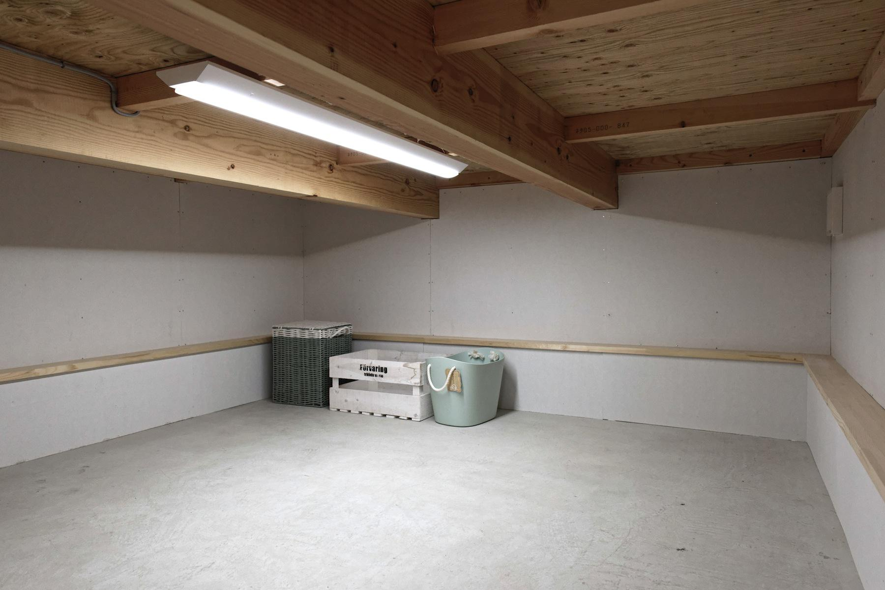 広々4.5帖の床下収納