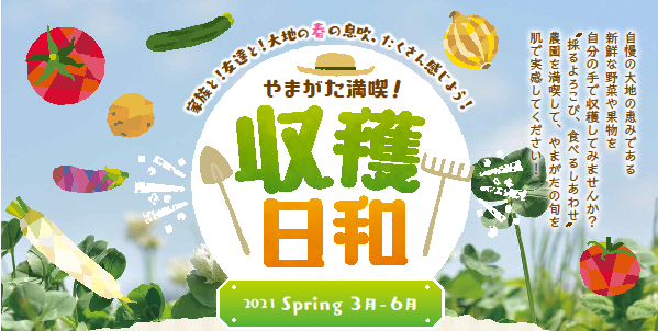 やまがた満喫!収穫日和【春】開始のお知らせ