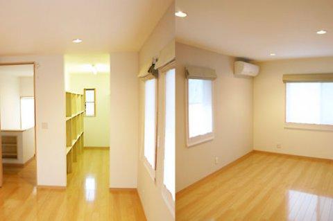 寝室と廊下ホール:画像