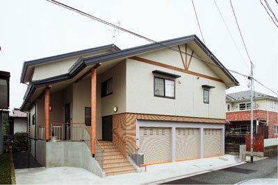 2世帯住宅ビルトインカーポートの家 / 山形市S様邸:画像