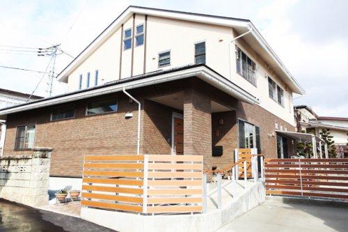 蔵王が見える二世帯住宅+遮熱:画像