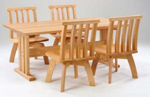 ダイニングテーブル(2脚)天板下端斜めカットタイプ:画像