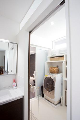 ホールに設置した洗面台:画像