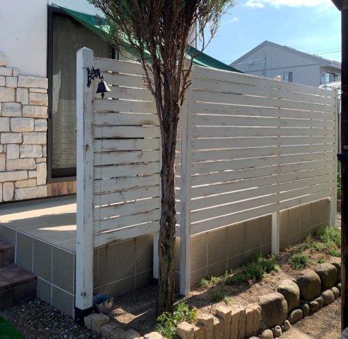 DIY木製フェンス:画像