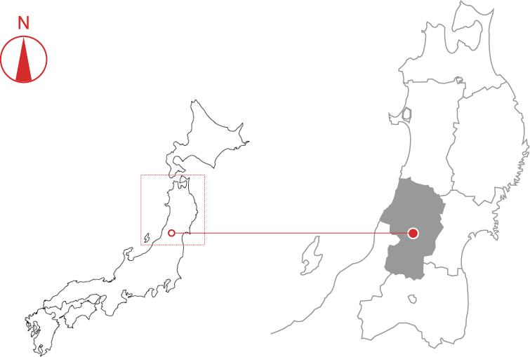 山形県:地図