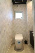 クロスを変え、雰囲気を変えたトイレ:画像
