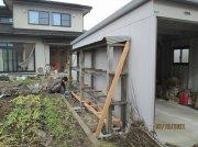 パイプ小屋の補修:画像