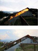 外部内部空間の高低差建築物のアイディア:画像