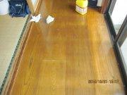 床のワックスがけ:画像