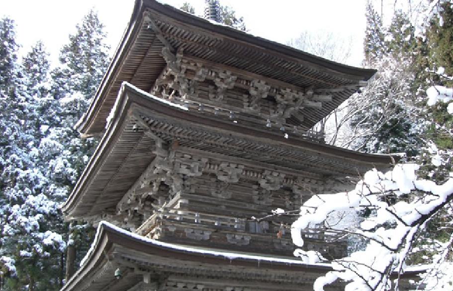 慈恩寺の冬