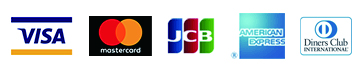 VISA/MasterCadr/JCB/AMERICAN EXPRESS/Diners Club INTERNATIONAL