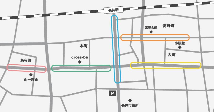長井の商店街マップ