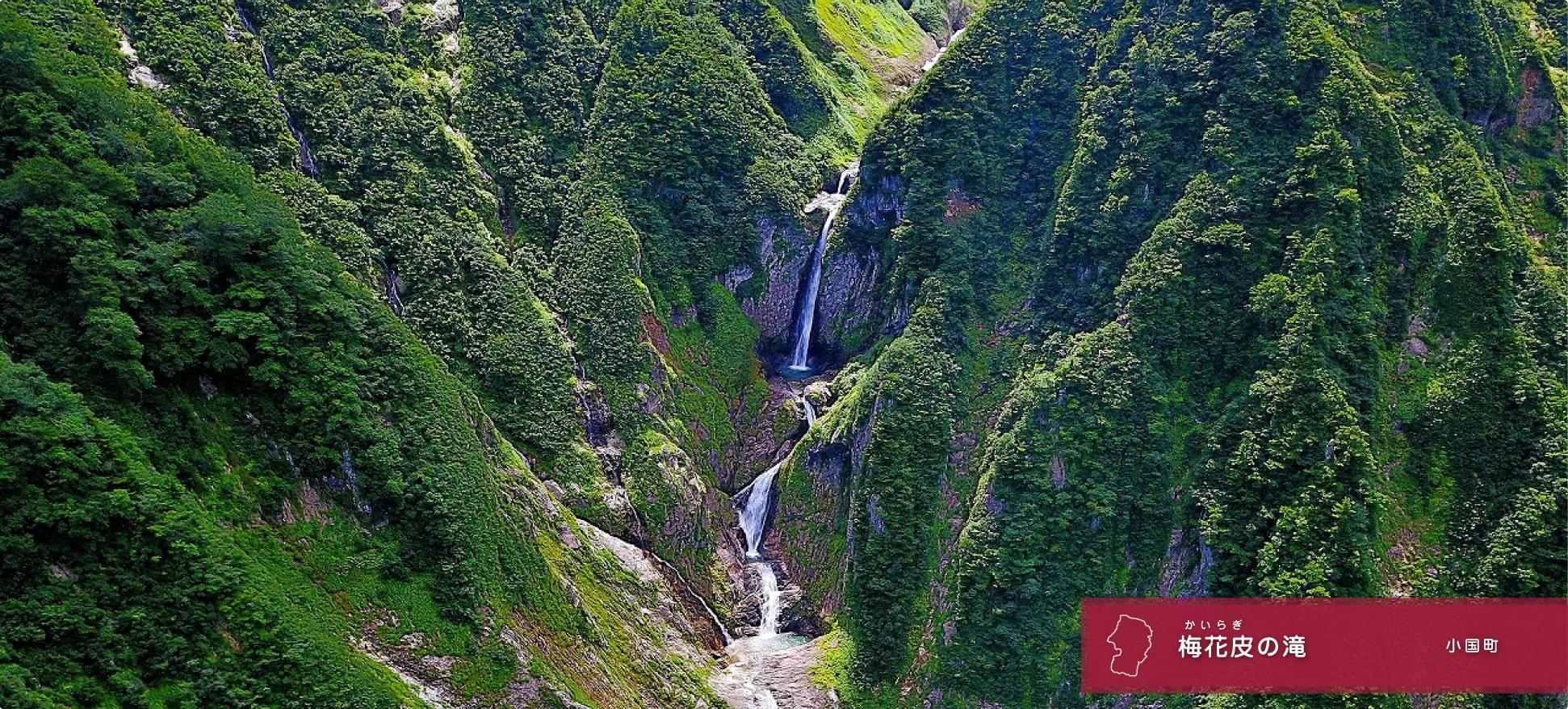 梅花皮の滝〜滝王国山形