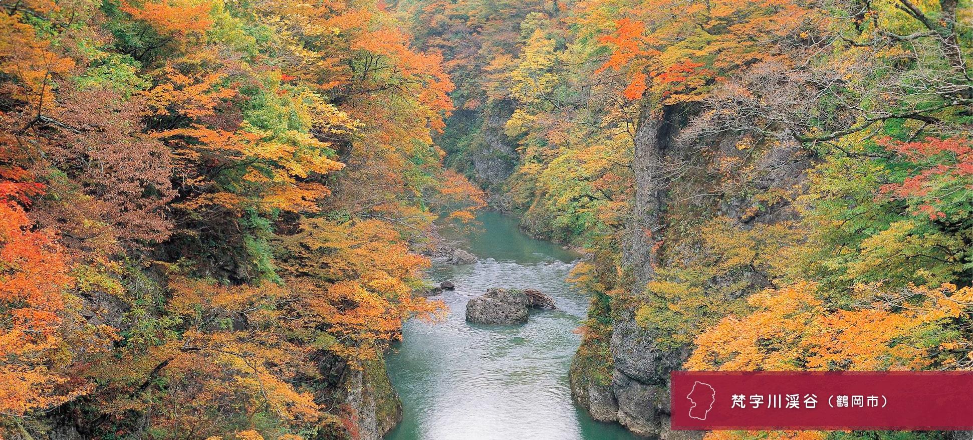 梵字川渓谷